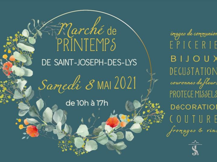Marché de Printemps de Saint-Joseph-des-Lys le 8 mai